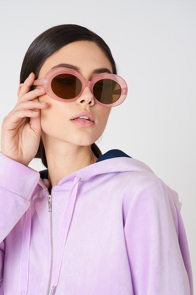 Owalne okulary przeciwsłoneczne Light Purple
