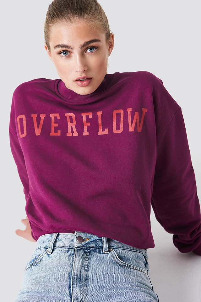 Bluza Overflow Burgundy