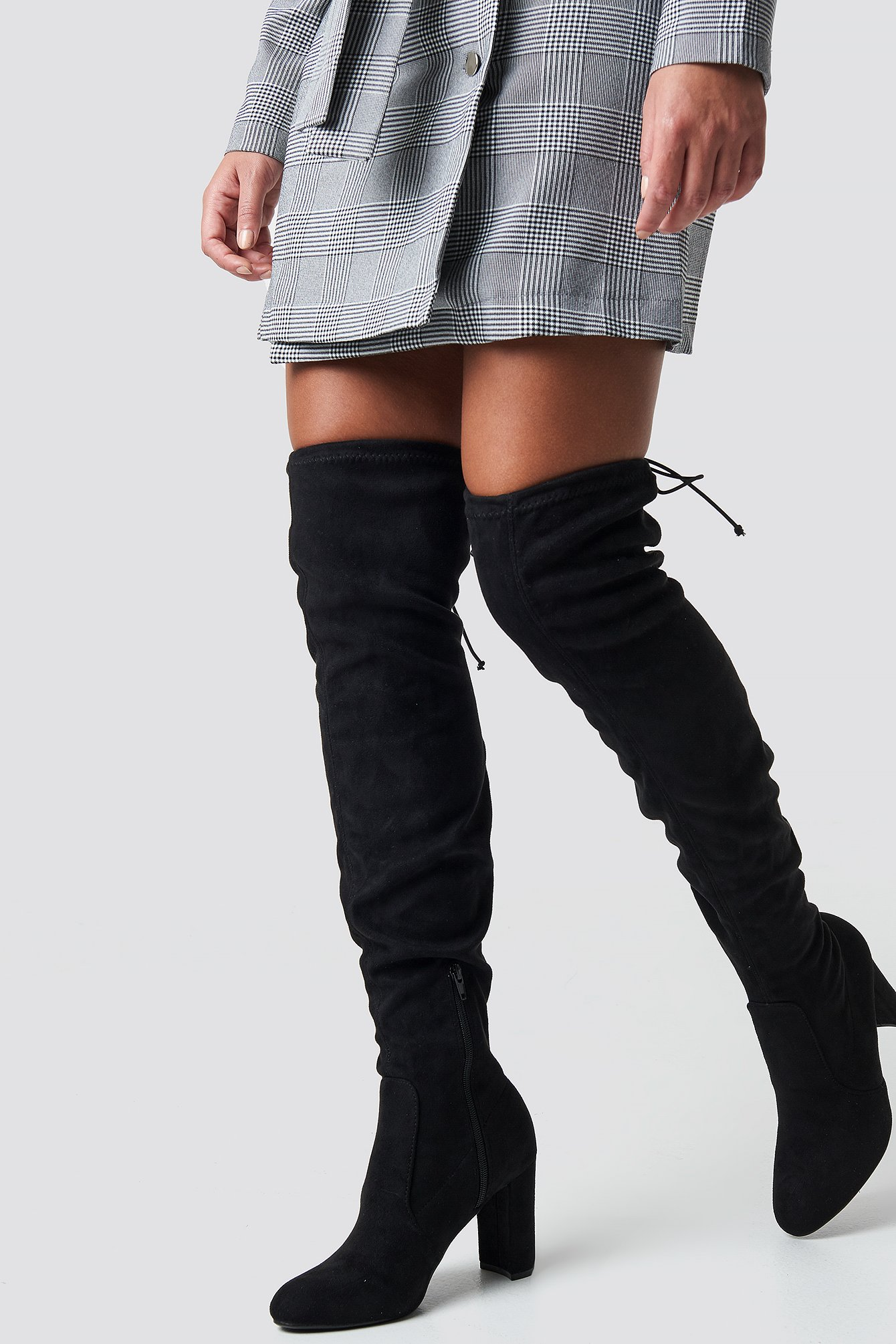 na-kd shoes -  Overknee High Heel Boot - Black