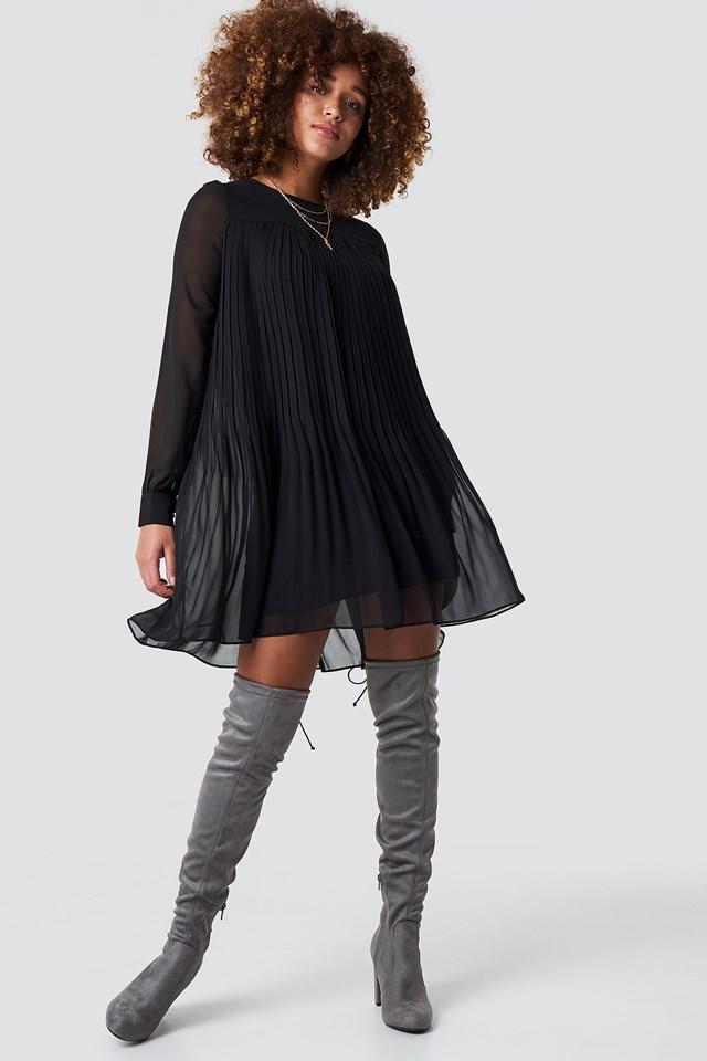 Overknee High Heel Boot Grey