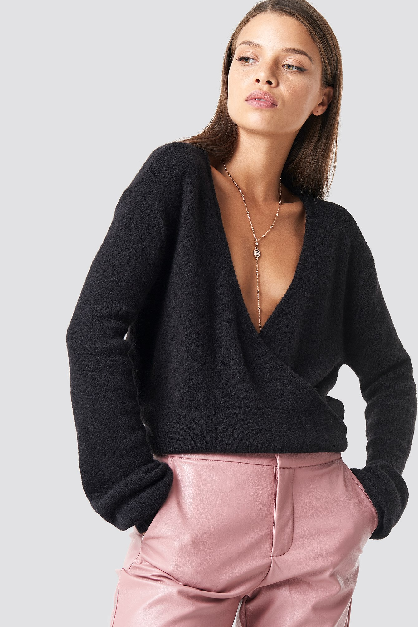 Overlap Knitted Sweater NA-KD.COM
