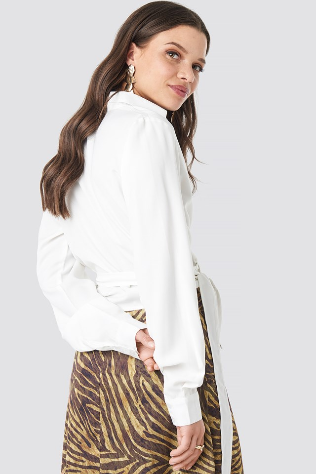 Overlap Knot Blouse Offwhite