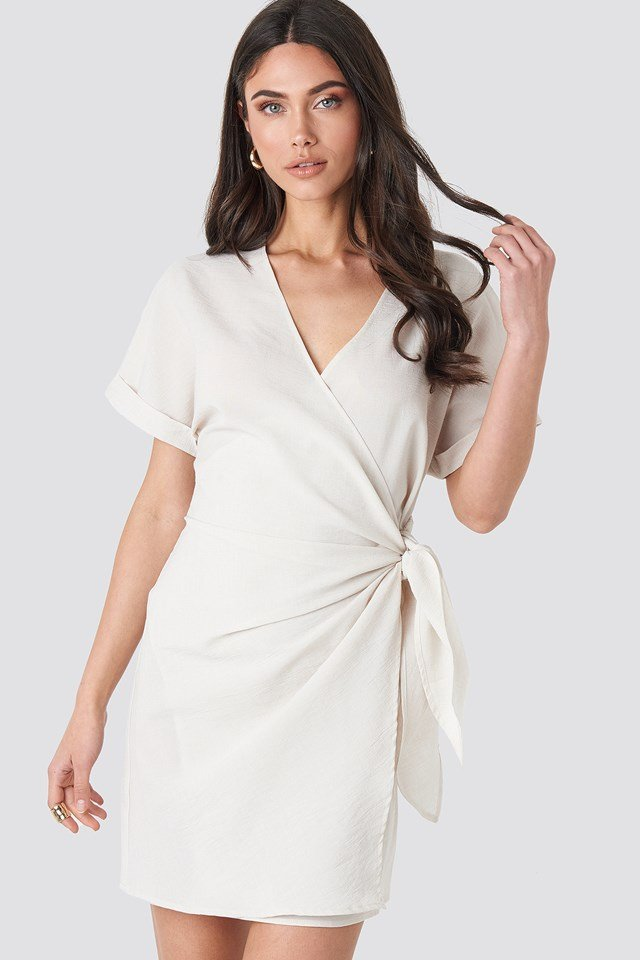 Overlap Knot Mini Dress NA-KD