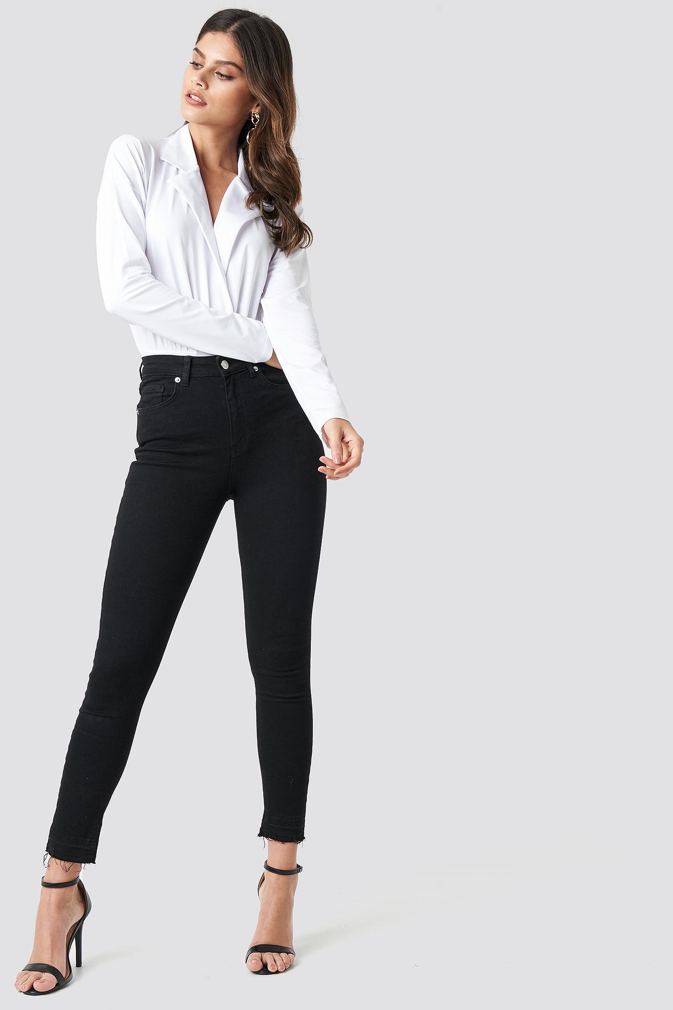 Overlap Long Sleeve Bodysuit NA-KD.COM