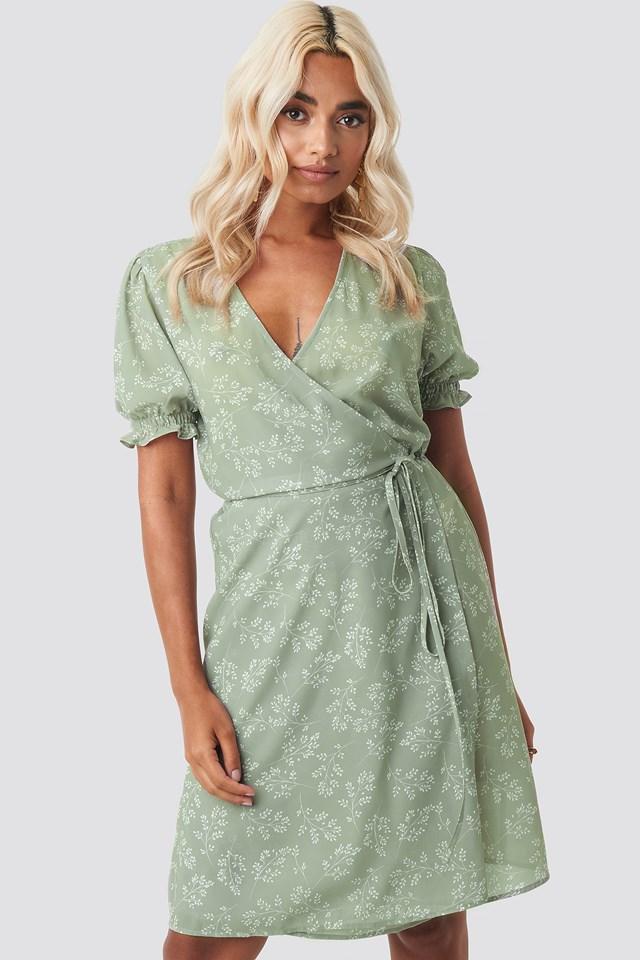 Overlap Printed Dress NA-KD.COM