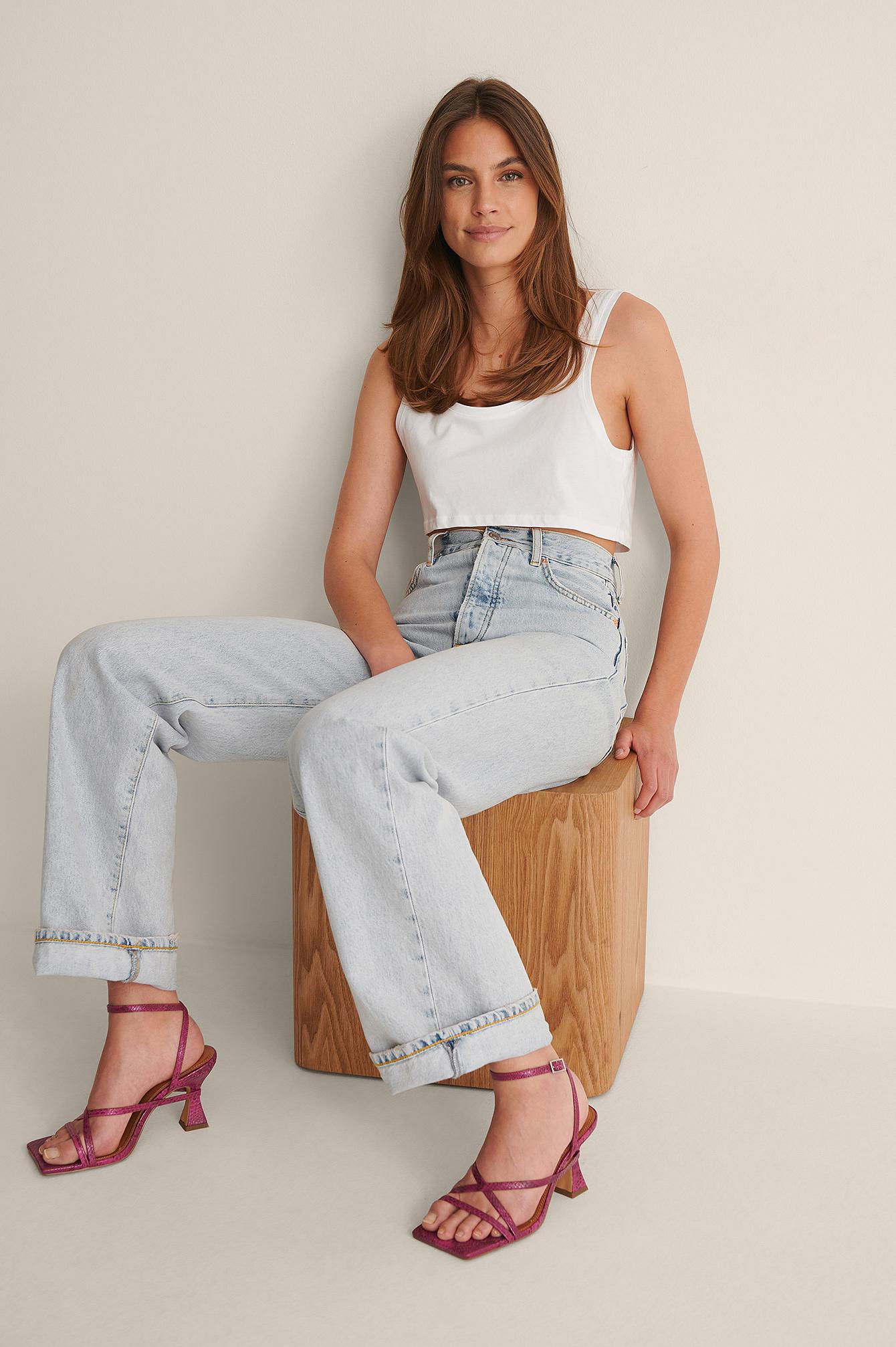 na-kd shoes -  Absatzschuhe Mit Überlappenden Riemchen - Pink