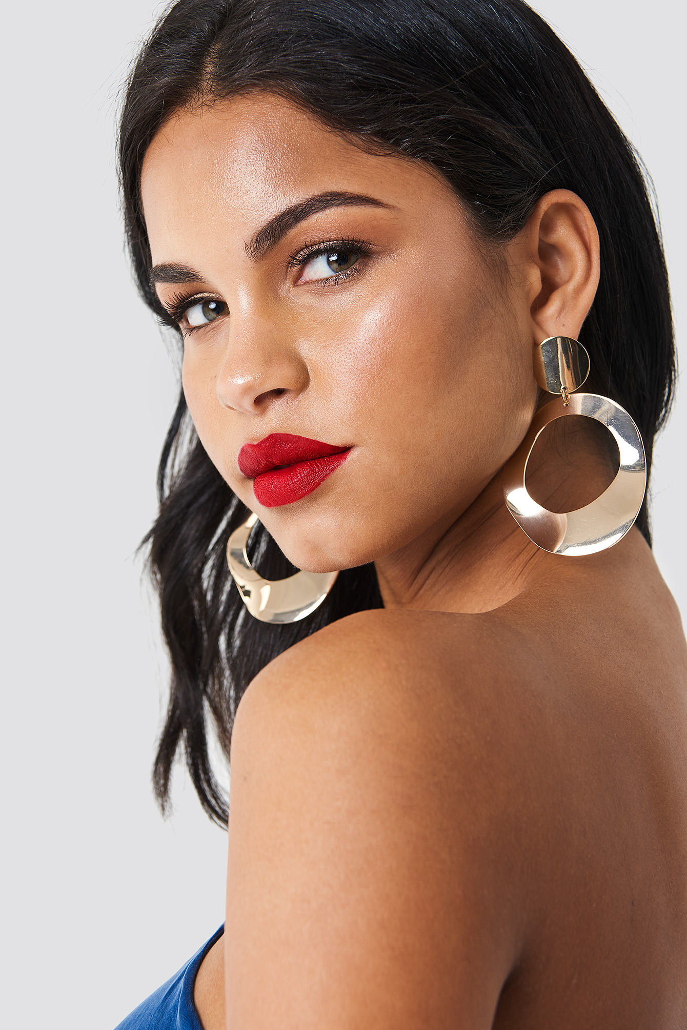 Oversize Asymmetric Earrings NA-KD.COM
