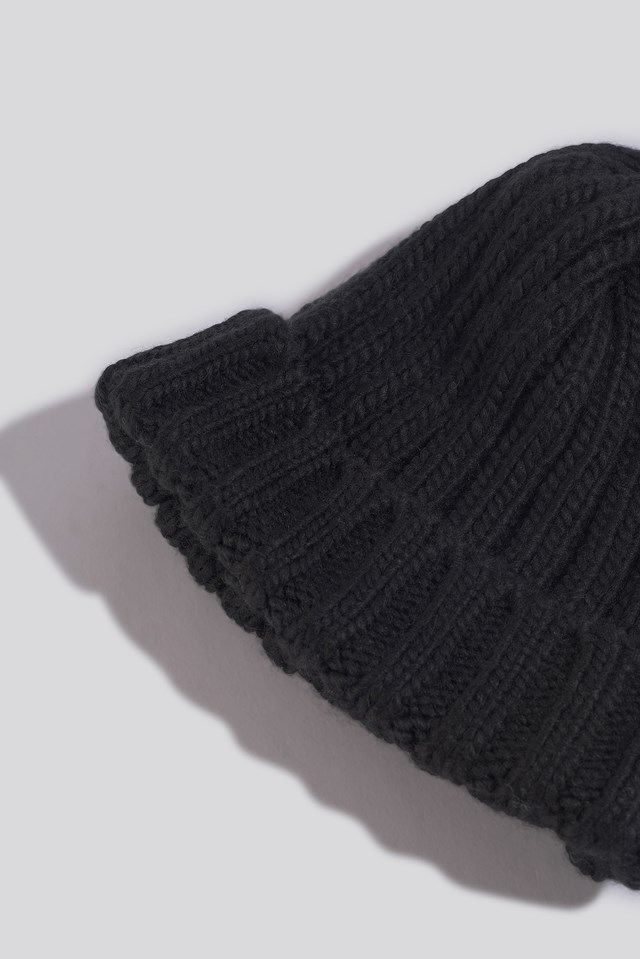 Oversize Chunky Beanie Black