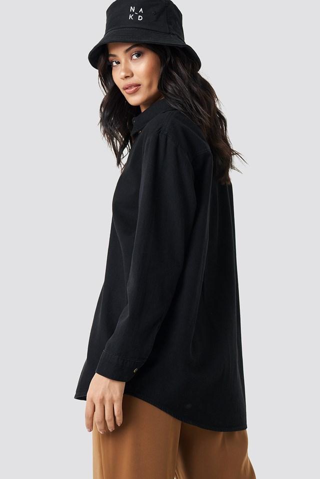 Oversize Denim Shirt Black