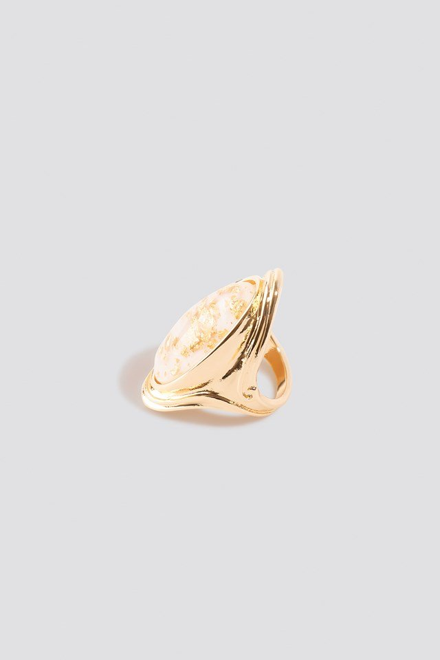 Oversize Gold Flakes Ring Gold