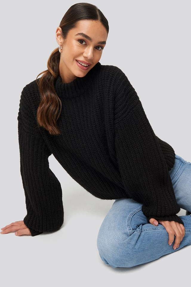 Round Neck Knitted Sweater Queen of Jetlags x NA-KD