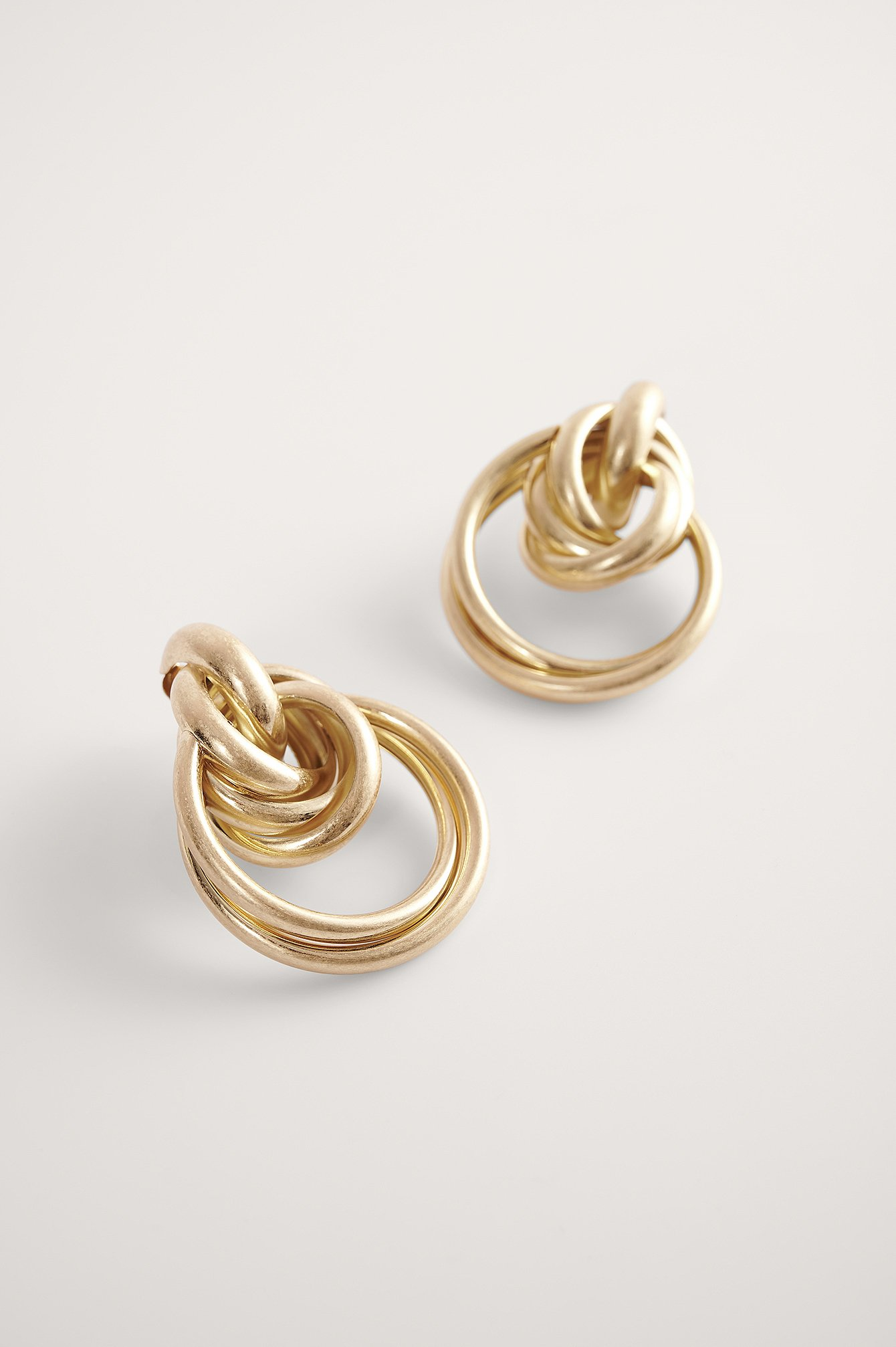 Gold Oversize Layered Hoop Earrings