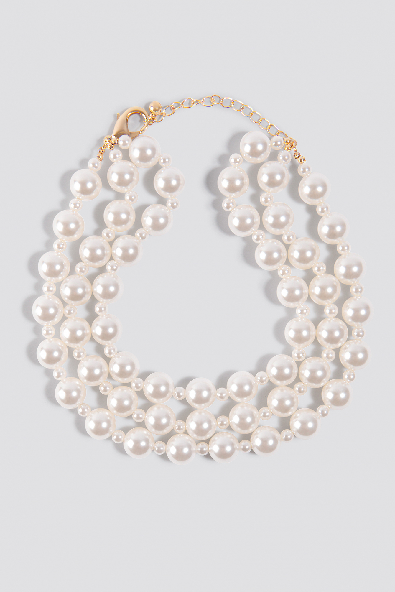 Oversize Layered Pearl Necklace NA-KD.COM