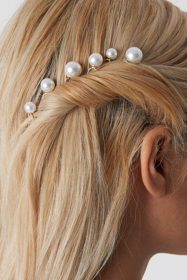 Oversize Pearl Hair Pins White