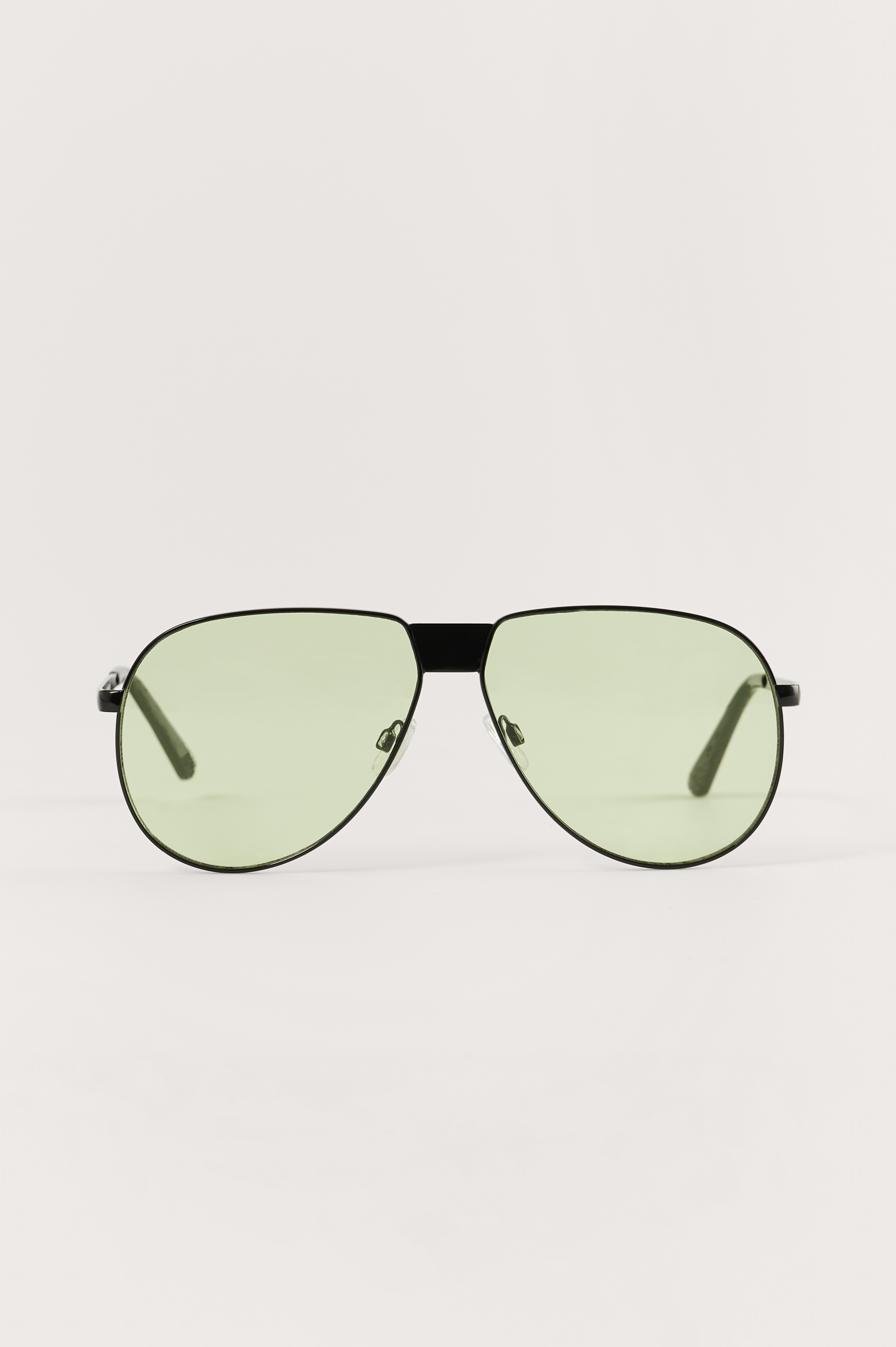 NA-KD Accessories Oversize Pilot Sunglasses - Green