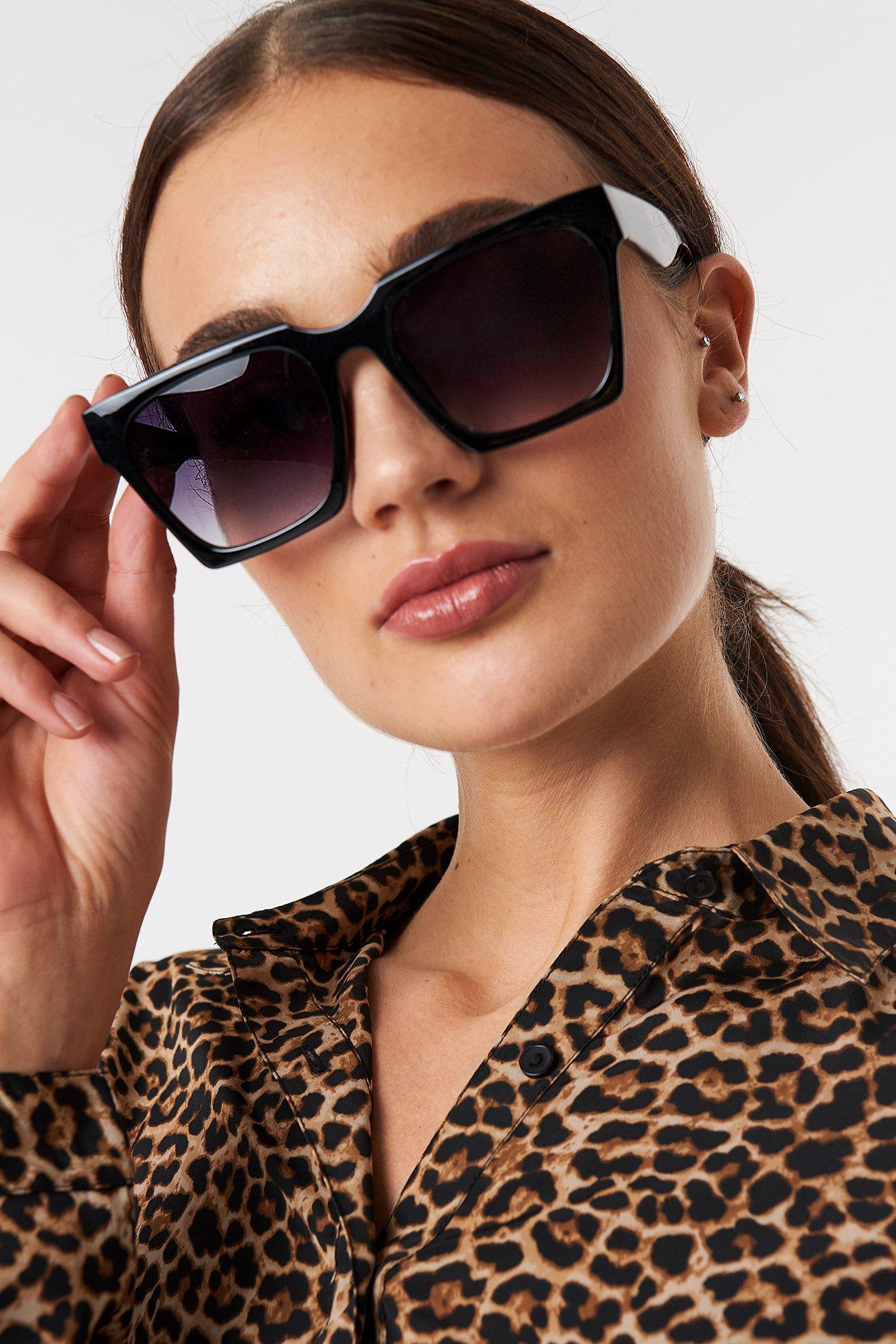 na-kd accessories -  Oversize Squared Sunglasses - Black