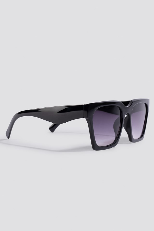 Oversize Squared Sunglasses Black