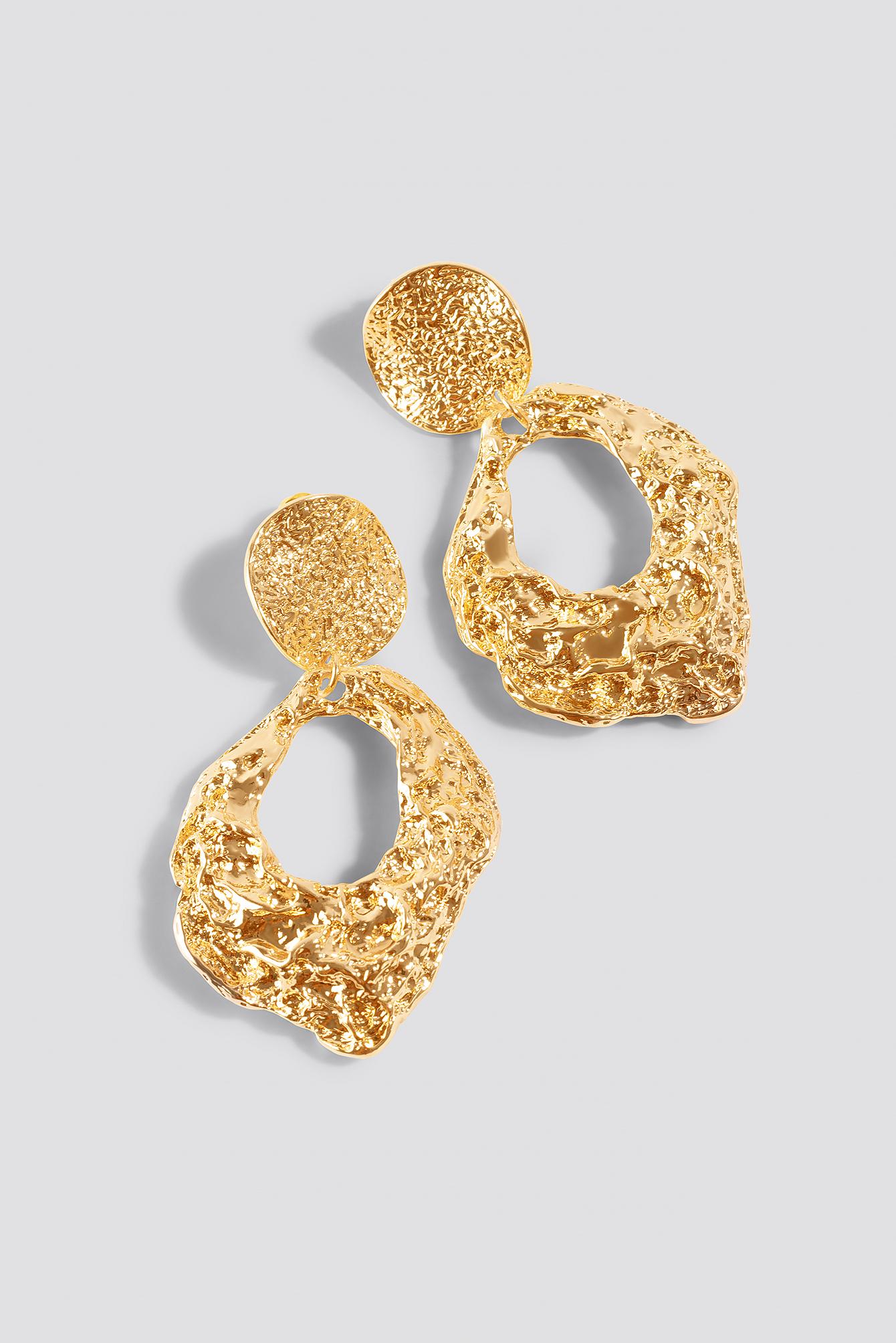 Oversize Textured Earrings NA-KD.COM