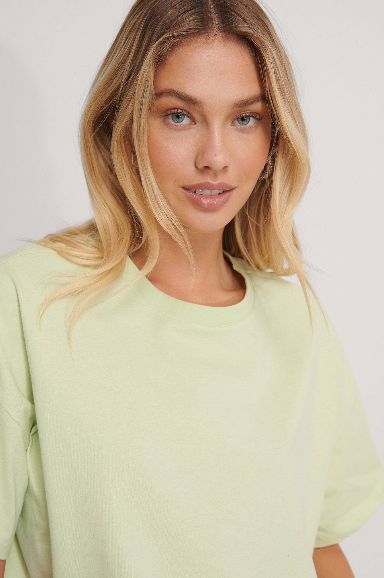Light Green Oversized ¾ Sleeve Tee