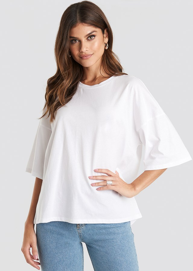 Oversized Boxy T-shirt Optical White