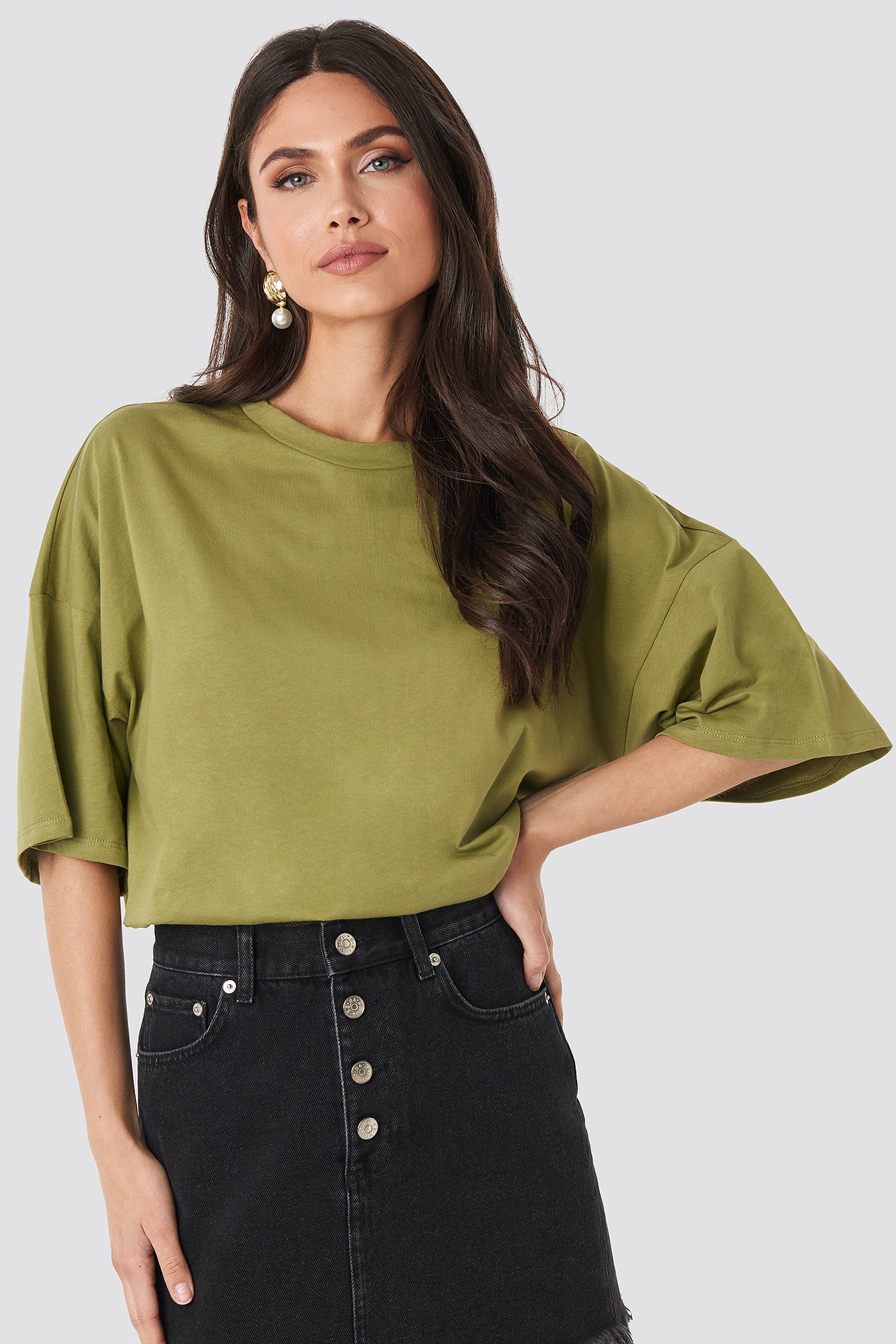 Green Oversized Boxy T-shirt