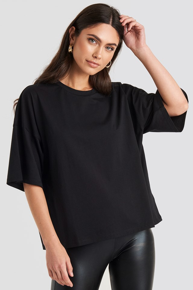 Oversized Boxy T-shirt Deep Black