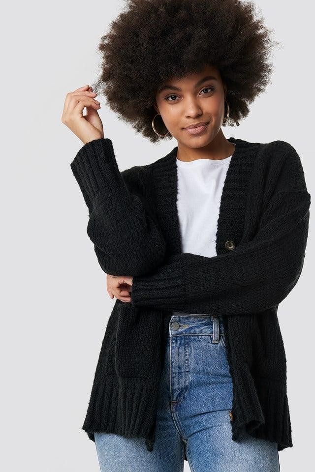 Oversized Cardigan Black