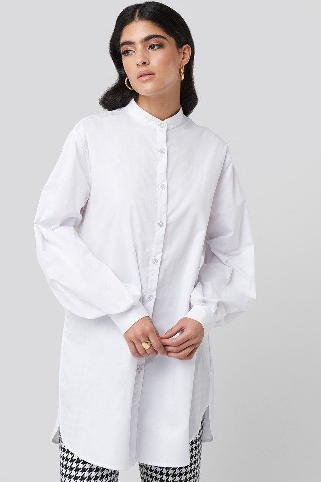 Oversized Cotton Shirt Dress NA-KD Classic