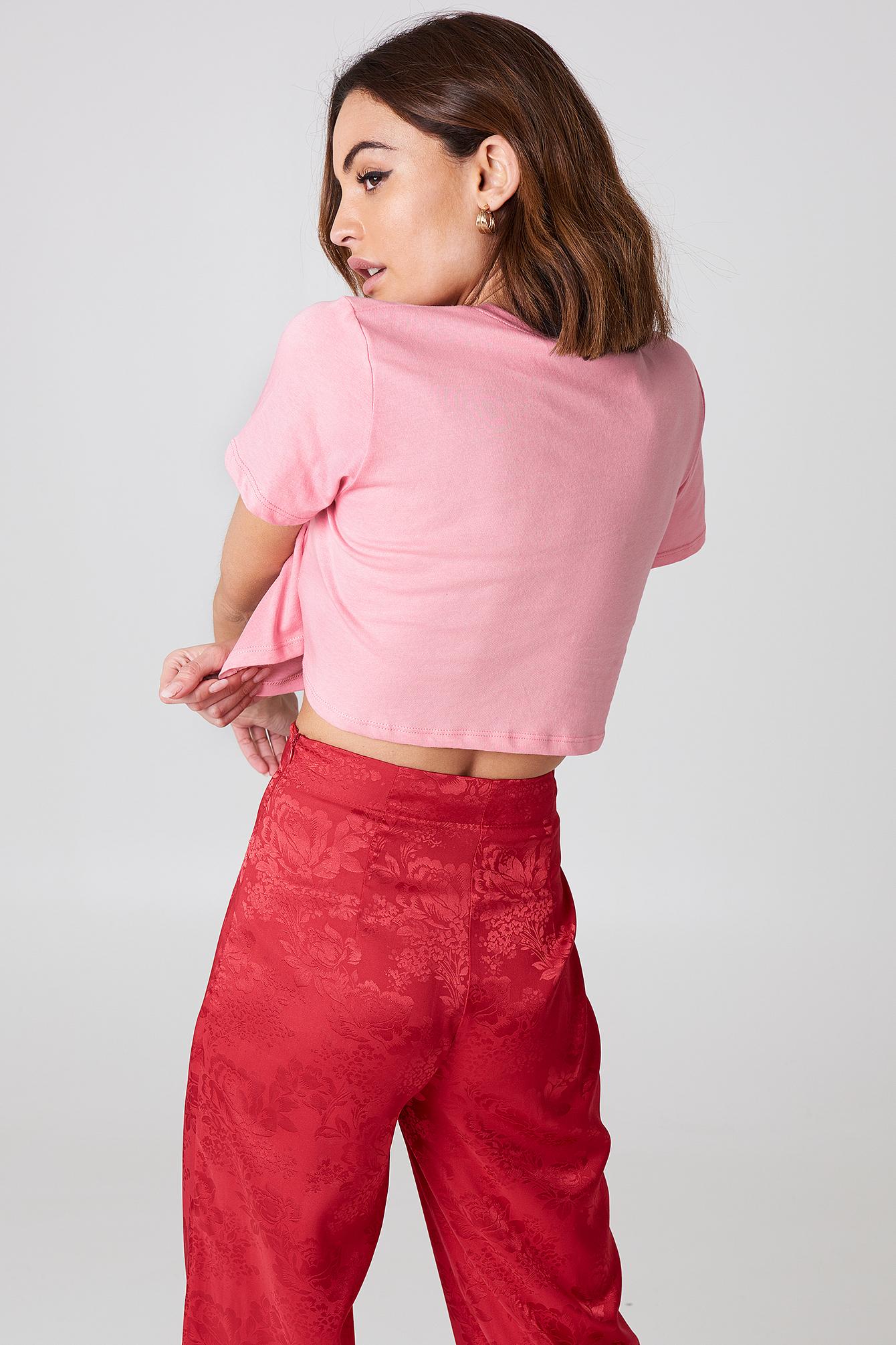 Krótki T-shirt oversize NA-KD.COM