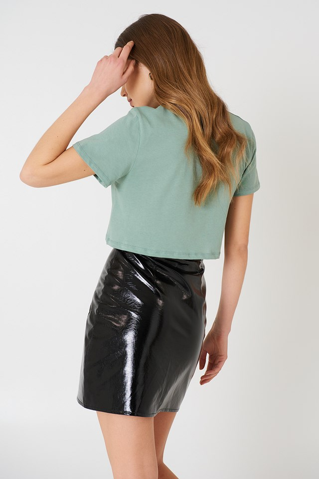 Oversized Cropped Tee Duck Green