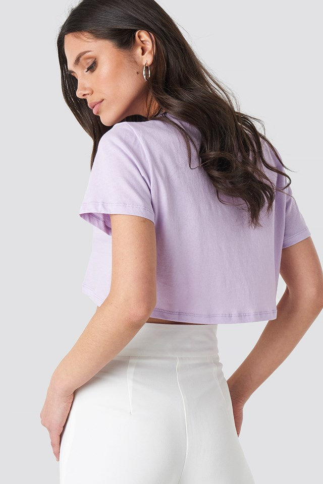 Oversized Cropped Tee Lilac