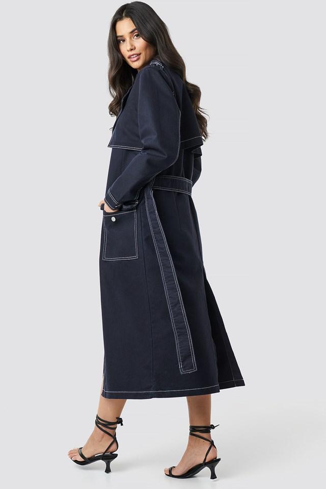 Oversized Denim Coat NA-KD.COM