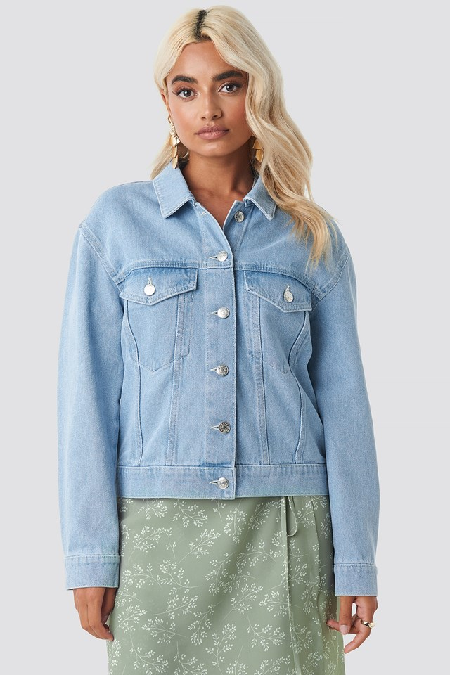 Oversized Denim Jacket Light Blue