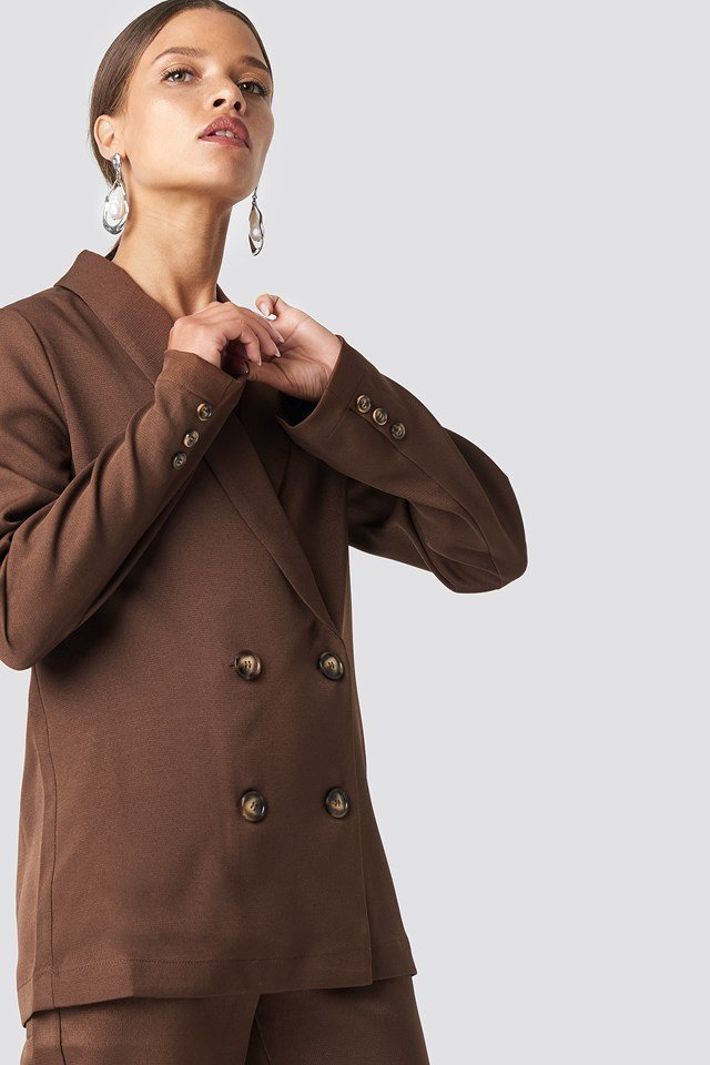 Oversized Double Breasted Blazer NA-KD Classic