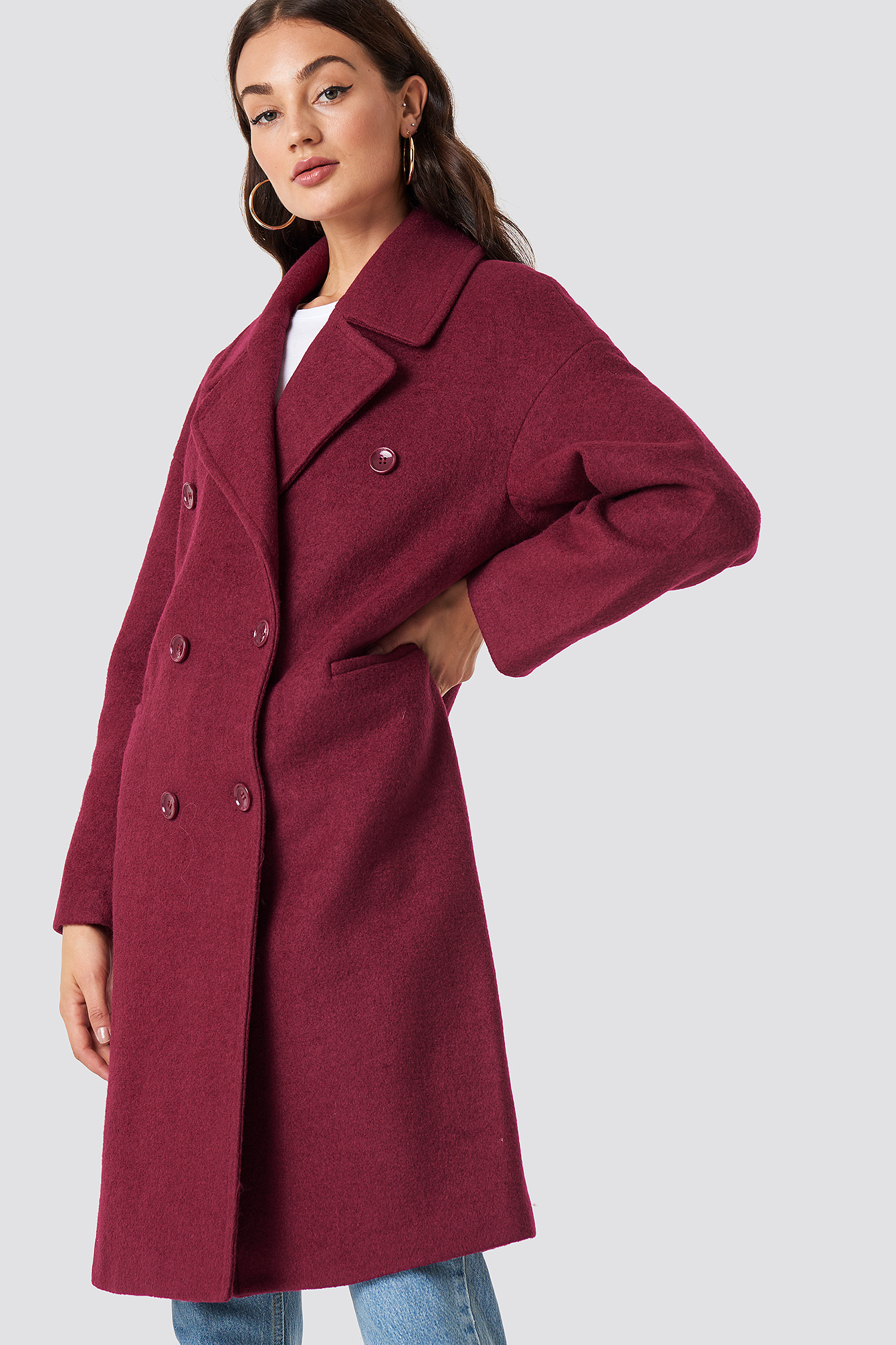 Oversized Double Breasted Coat NA-KD.COM