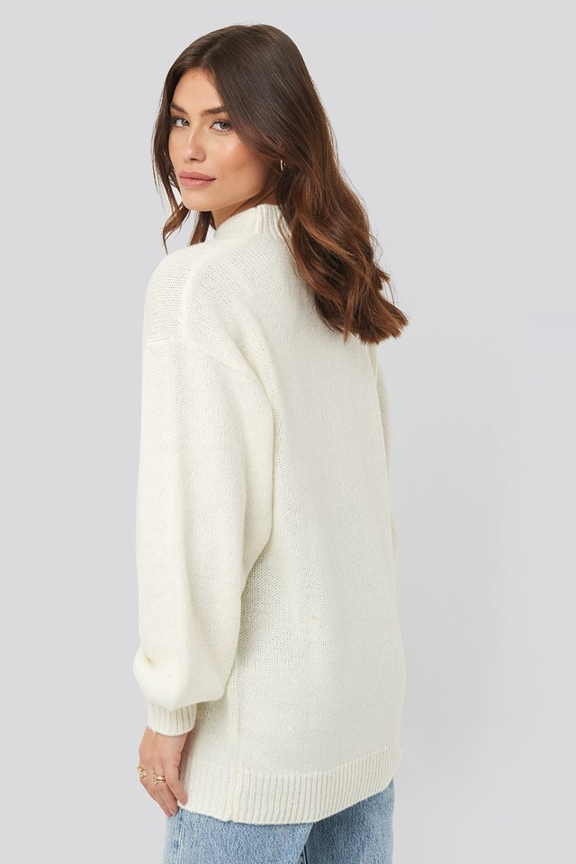Oversized Long knitted Sweater Offwhite