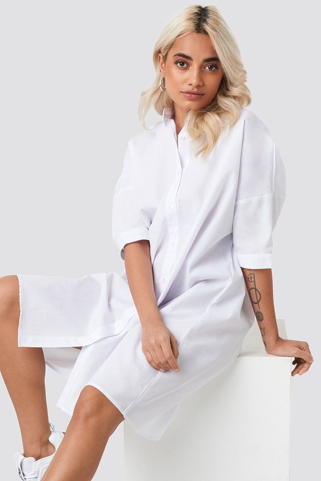 Oversized Long Shirt White