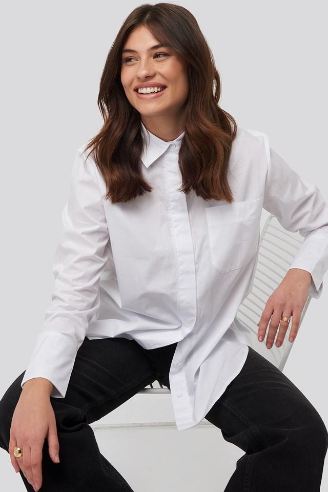 Oversized Poplin Shirt White