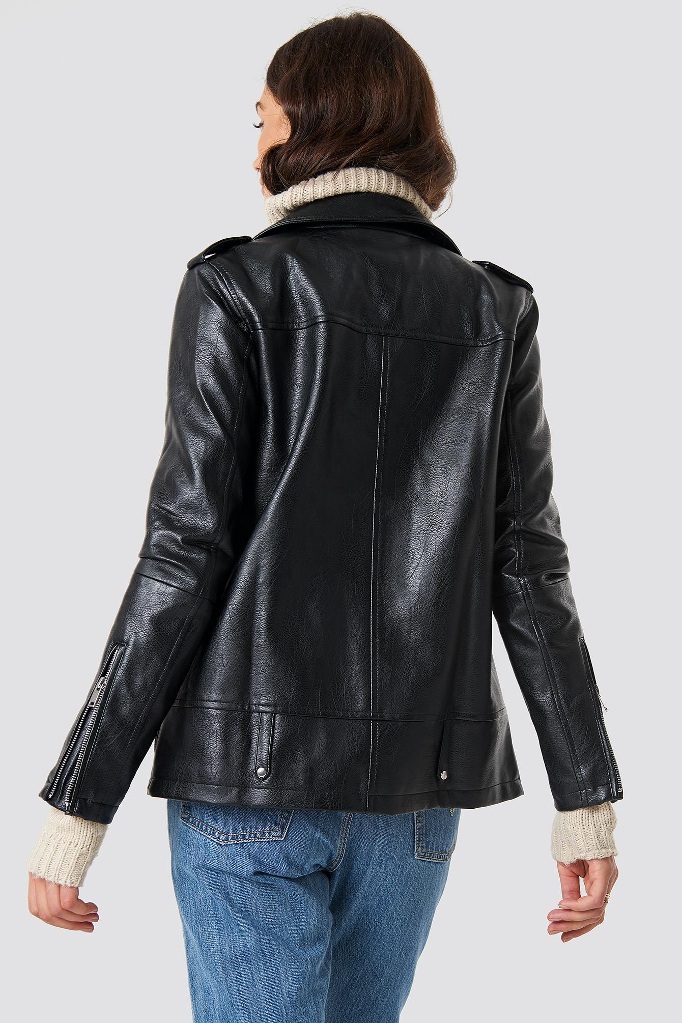 Oversized PU Jacket NA-KD.COM