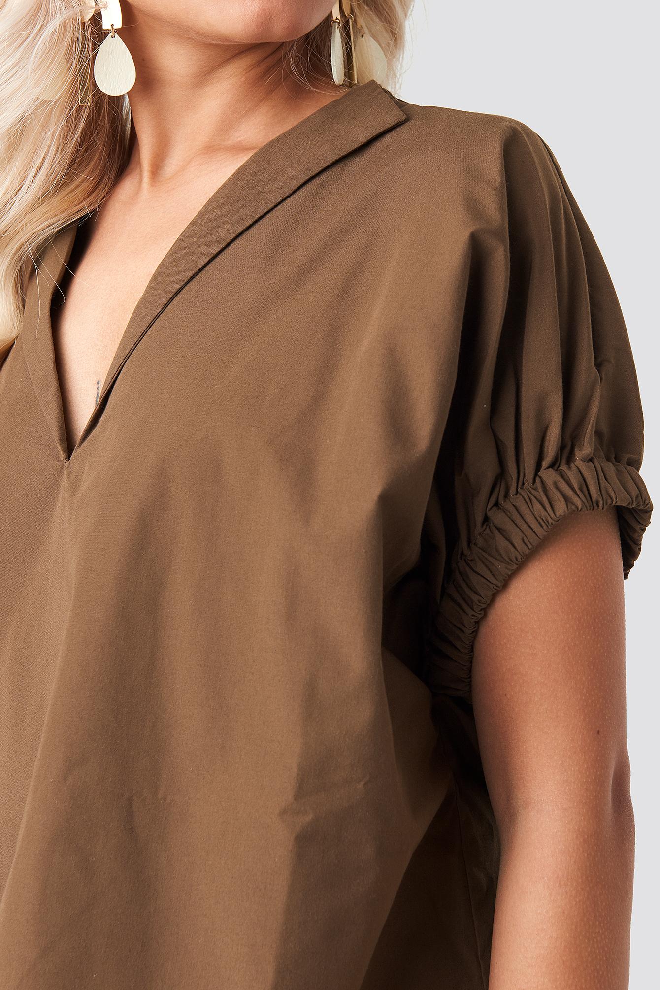 Oversized Puff Short Sleeve Shirt NA-KD.COM