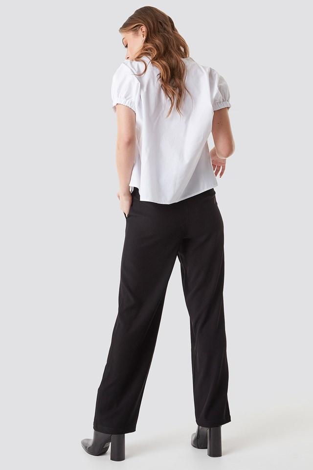 Oversized Puff Short Sleeve Shirt White