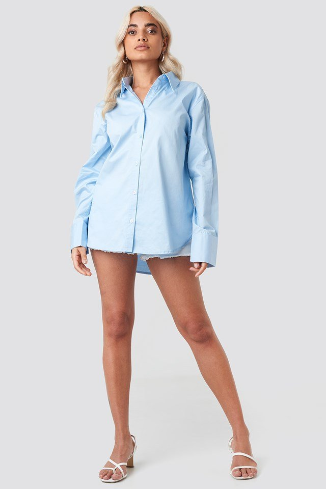 Oversized Shirt Light Blue