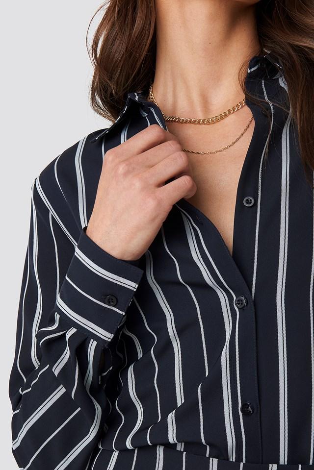 Oversized Straight Striped Shirt NA-KD.COM