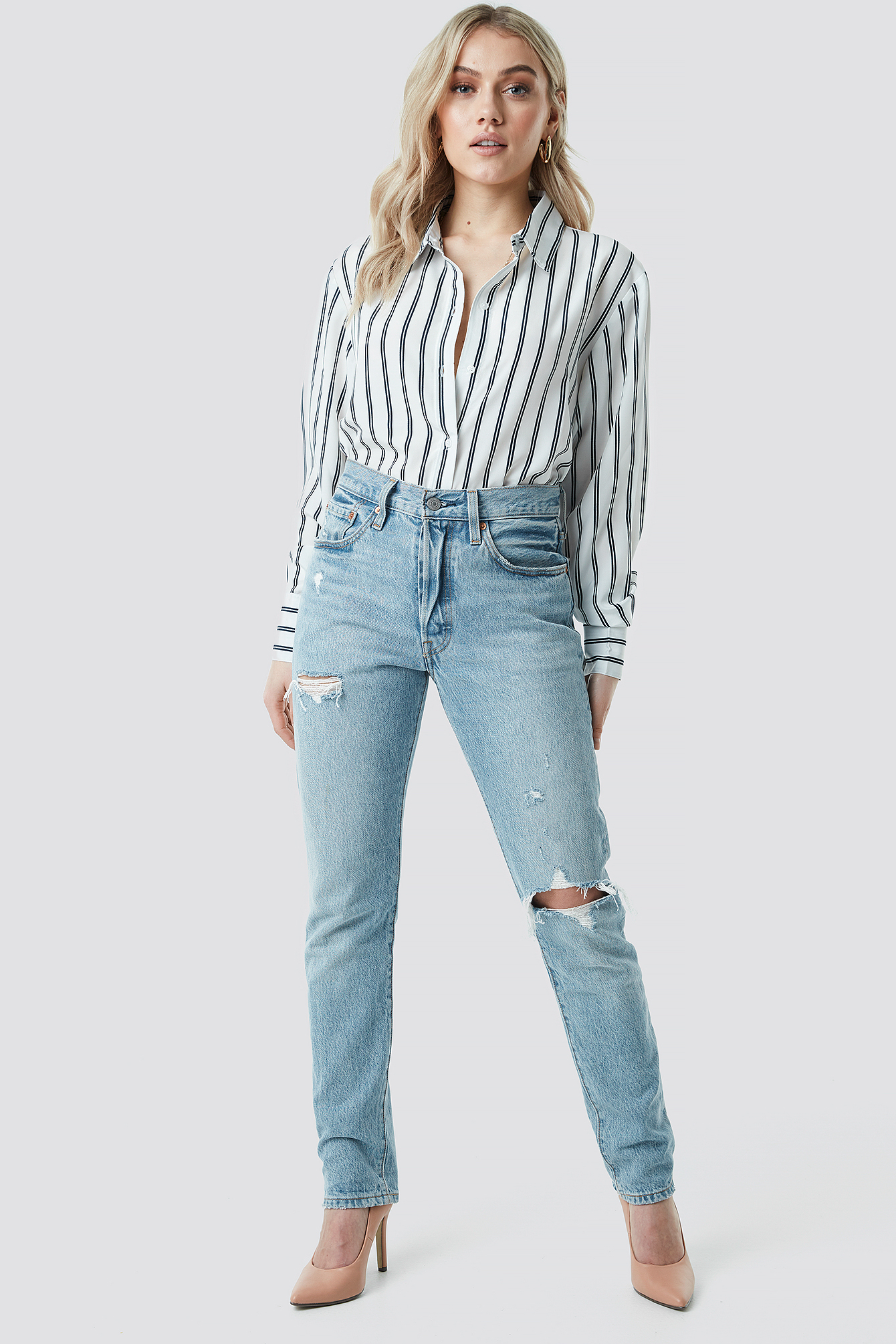 Oversized Striped Shirt NA-KD.COM