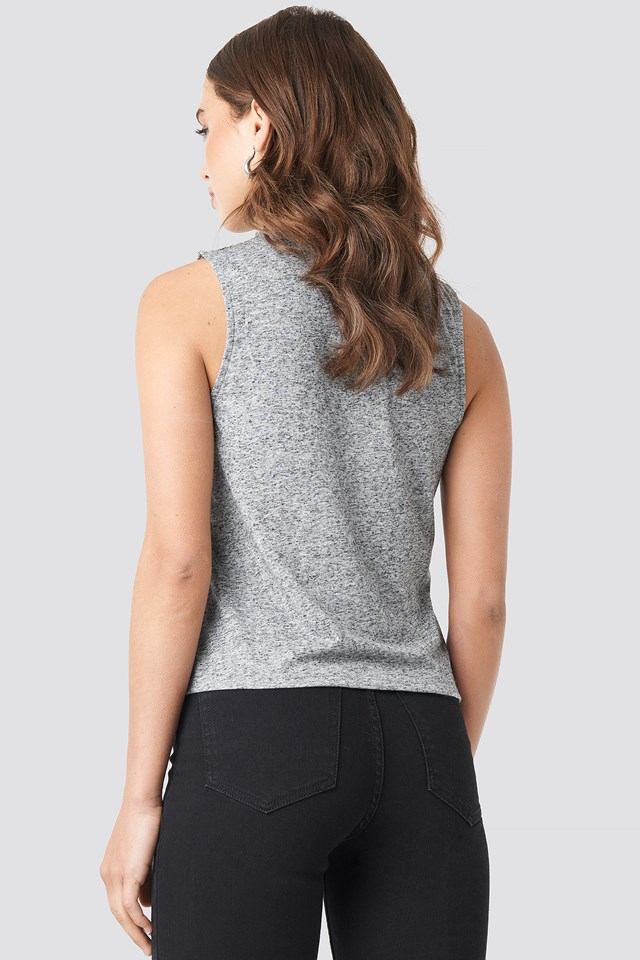 Turtle Neck Tank Top NA-KD.COM