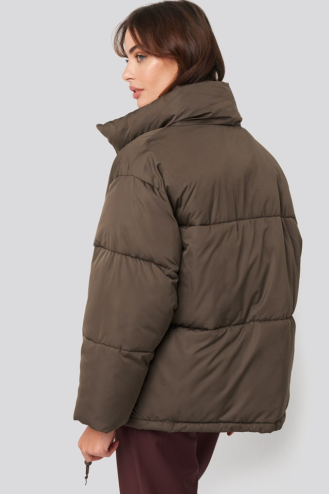 Padded  Oversized Jacket Brown