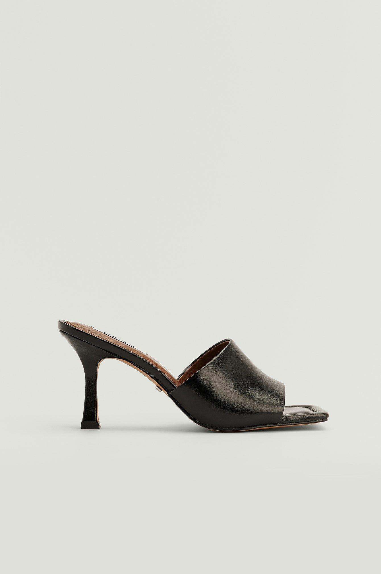NA-KD Shoes Smutters med stilethæle og polstret sål - Black