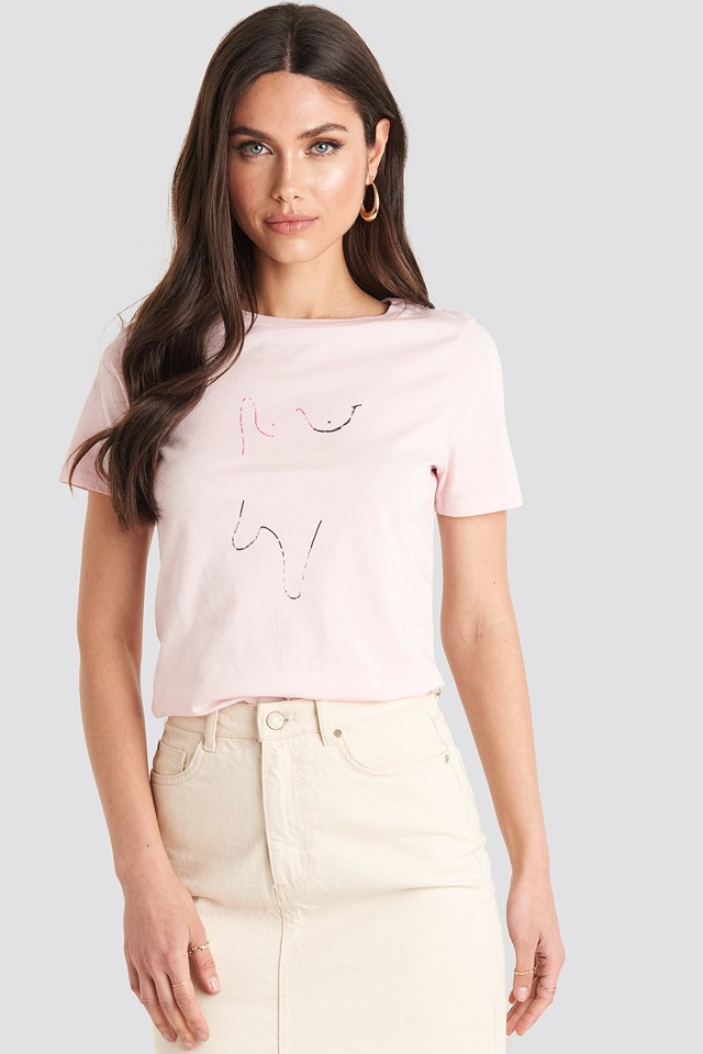 Painting T-shirt Pink