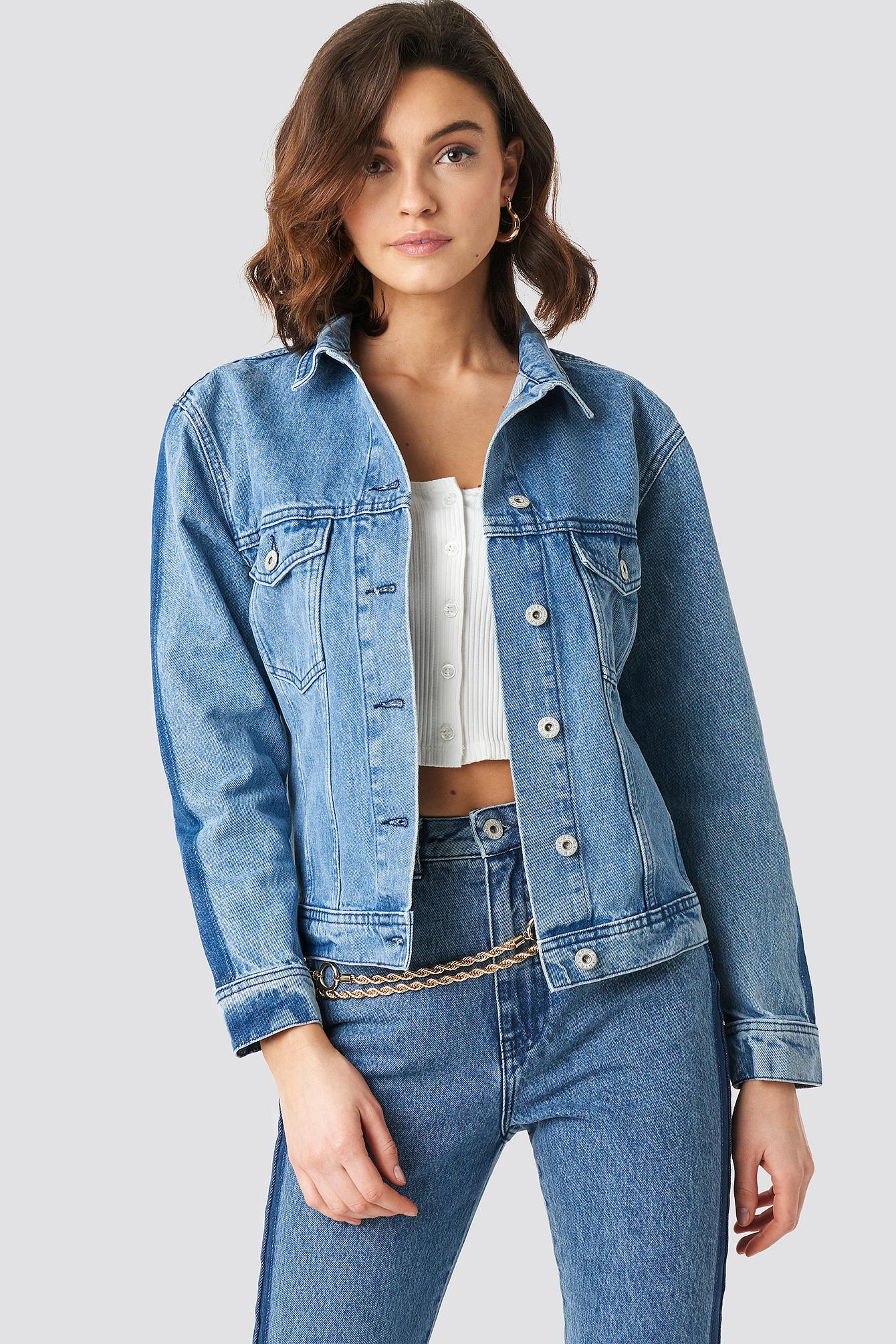 Panel Jeans Jacket NA-KD.COM