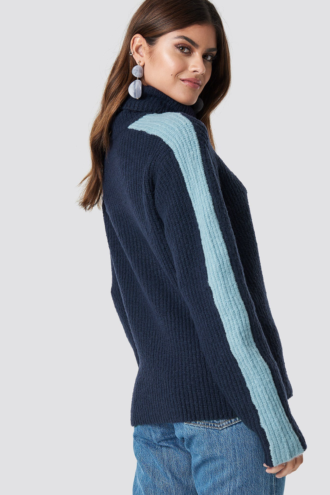 Panel Knitted Sweater NA-KD.COM